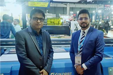 (l-r) Deborshi Poul Choudhury, general manager, sales and marketing and Smarth Bansal, DGM, product management, Colorjet