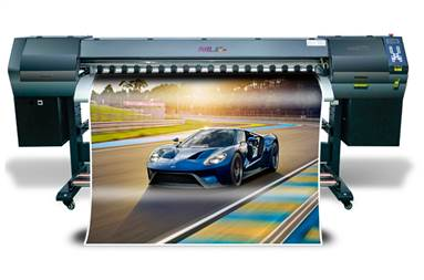 The miniRTR is capable of printing high quality indoor and outdoor signage
