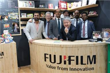 The Fujifilm team at the show