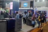 The Konica Minolta stall at Pamex 2020