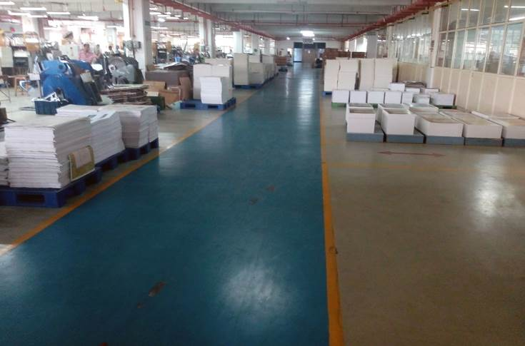 The sprawling shopfloor at the Manesar plant is an ideal example how a printing company shopfloor should be