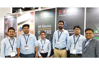 The Valco Melton India team at the show