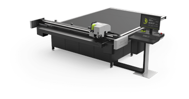 The print shop is currently running the Esko Kongsberg X for eight hours every day