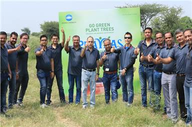 The brand intends to plant 4000 trees over a span of three years across multiple sites in India