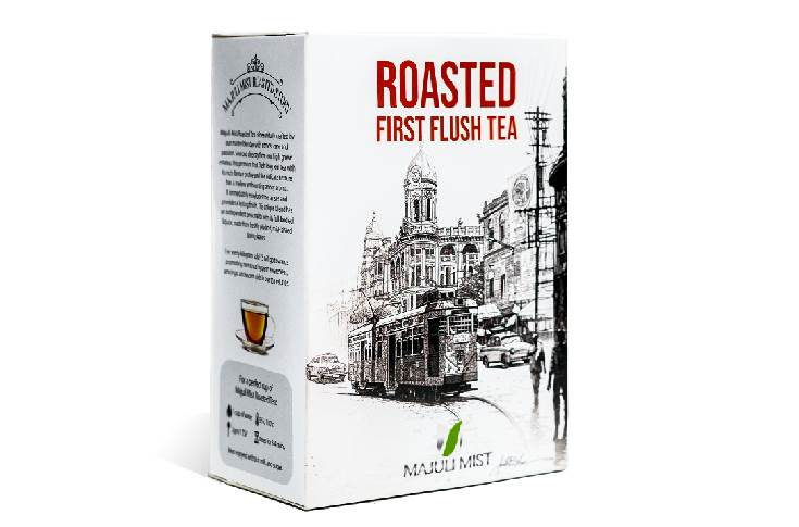 The packaging carries a depiction of a Kolkata's street scene, sketched by Amit Bhar