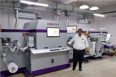 Jimit Mittal of Monotech Systems with the Colornovo