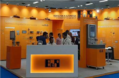 The B&R Industrial Automation stall during PackPlus 2019