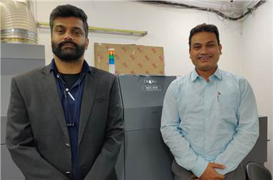 (L-R) Vikas Arora of Royal Offset and Sanjib Mondal of TechNova Imaging Systems