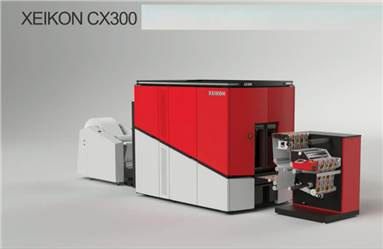 The CX300 digital label press can operate at a speed of 30-m/min