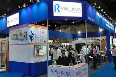 The Robus India stall during the show