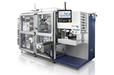 AlphaFlex buffering system ensures complete synchronisation sachet layers printed in full colour at 1600-dpi