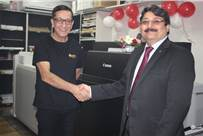 (l-r) Amit Roy, director, Mantra Printers and Puneet Datta, senior director, Professional Printing Products, Canon India at the installation of Imagepress C8000VP in Kolkata