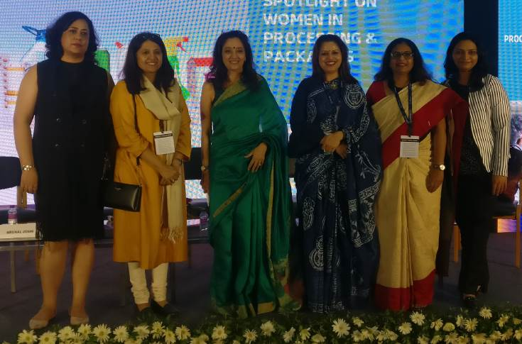 The event organised a session on women in processing and packaging