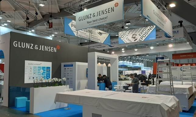 Glunz & Jensen displayed an array of products