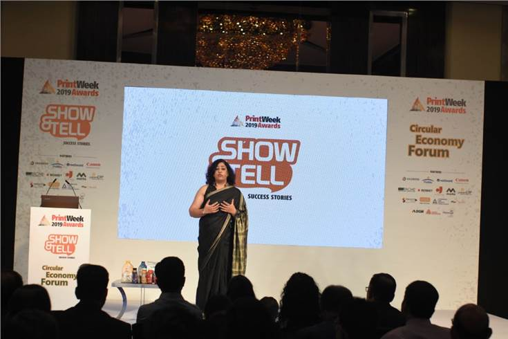 Meenakshi Sapru of Huhtamaki PPL demonstrates how the company is using digital technology to create packaging which gravure cannot handle
