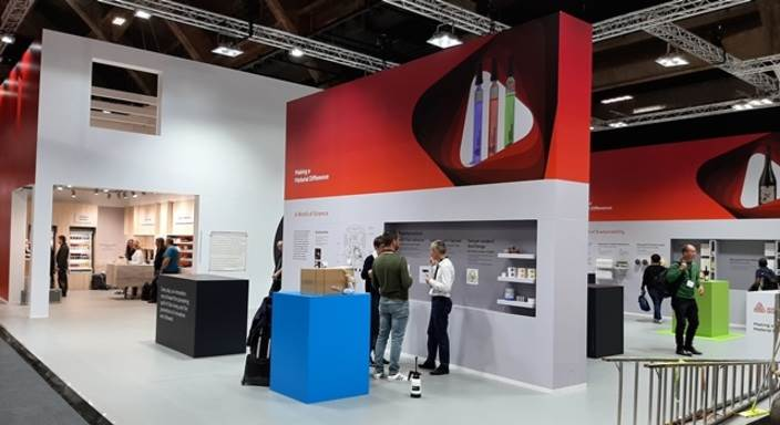 """Avery Dennison displayed around 11 products on display in four """"world of discovery"""" areas"""