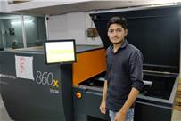 Milan Patel of Printline with the Basysprint