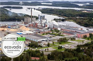 Iggesund Paperboard's Swedish Mill is a top performer among the more than 65,000 assessments made by EcoVadis