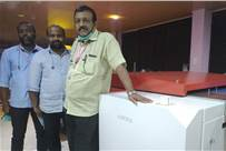 CK Shoukathali (extreme right), director, Oruma Printing & Publishing, with his colleagues