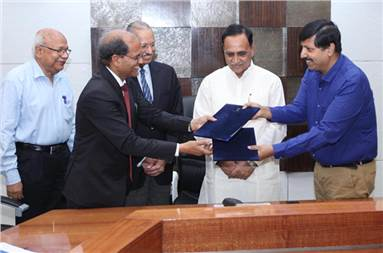 The MOU was signed by AS Mehta, president and director, JK Paper and MK Das, principal secretary, industries and mines department, government of Gujarat