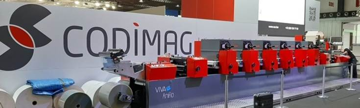 Displayed, te Viva 420 is an upgrade to the Viva 340 shown at Labelexpo Europe 2017