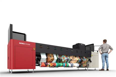 The new Avinci CX3200 is a dye-sublimation roll-to-roll printer