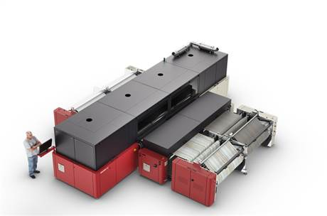 The InterioJet 3300 is a multi-pass, water-based inkjet system for printing on decor paper