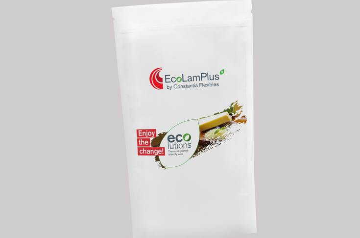 EcoLamPlus laminate is one of Constantia Flexibles' products in the monopolymer EcoLam packaging family