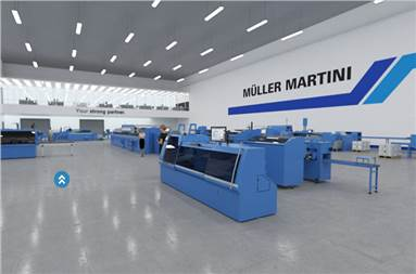 Muller Martini worked with Printing Expo's design team to create the showroom