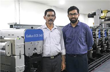 """Balai Adhikary (l) with son Ankan: """"Our aim is to become a complete packaging solution provider with wide service offering"""""""