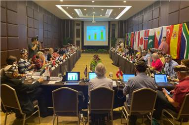 Judging sessionheld in Bali, during the second WPO board meeting of 2019