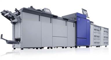 The machine offers four optional controllers, two EFIs, one Konica Minolta and one Creo