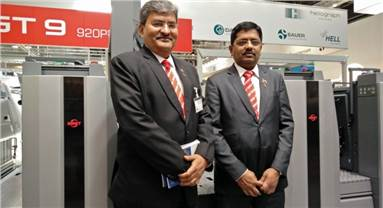 Team Provin at Drupa - Kaushal (l) and N Pradeep