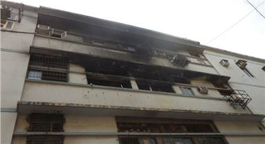 Garment company at the second floor of the Adhyaru estate was engulfed in fire