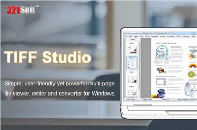 The 321Soft TIFF Studio is an easy-to-use application