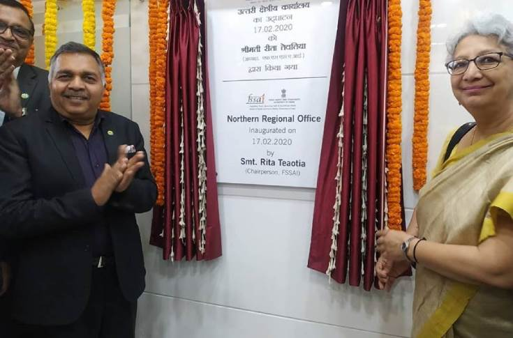 Pawan Agarwal, CEO, FSSAI and chairperson of FSSAI Rita Teaotia, during the inauguration of FSSAI