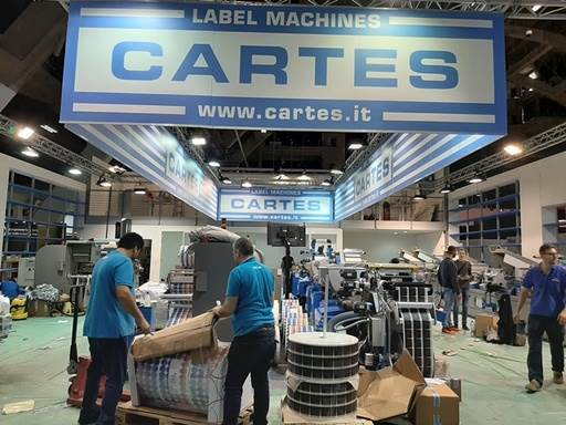 The Italian company Cartes, exhibits machines from the Series GT360 and Gemini in different versions