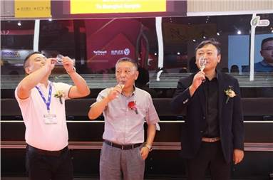 (l-r) Ma Li, general manager, ChangYin Technology, Sun Hao, general manager, Shanghai Kangda Penhua, and Kaiser Guo, senior director, sales and business development, Greater China for EFI