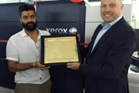 (l-r) Vikas Arora of Royal Offset and Martyn Train, general manager and vice-president, graphic communications, developing markets operations at Xerox
