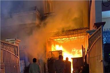 The police said the fire broke out due an electric short circuit