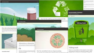 A website that digs deep into sustainability