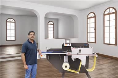 Himanshu Kapur of JK Fine Prints with the new ABG RTS sheeter