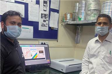 (l-r) Rahul Rajput, quality in-charge, and Lalit Kumar Sharma, manager, of Shriram Veritech with the new Guardian OLP