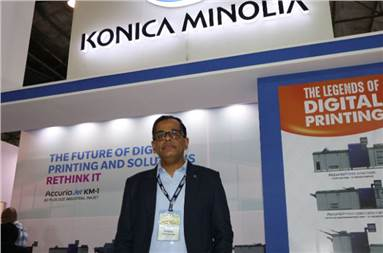 Ashok Sethi, executive general manager, sales, for production and industrial print division at Konica Minolta