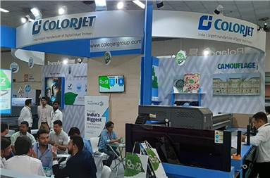 The Colorjet stall during the show