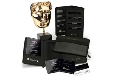 BAFTA's environmental-friendly gifting wallet containing Green Gift Cards made of Invercote was given to the nominees and presenters at the annual awards at the beginning of February