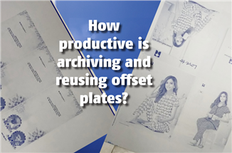 How productive is archiving and reusing offset plates? - The Noel D