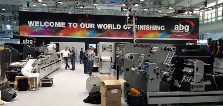 Along with its own stand, ABG systems is also at printing presses manufacturers' stands
