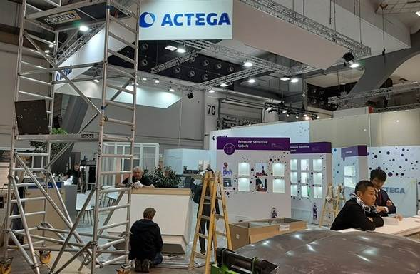 Actega comes to the show with the tagline 'Focus on labels'