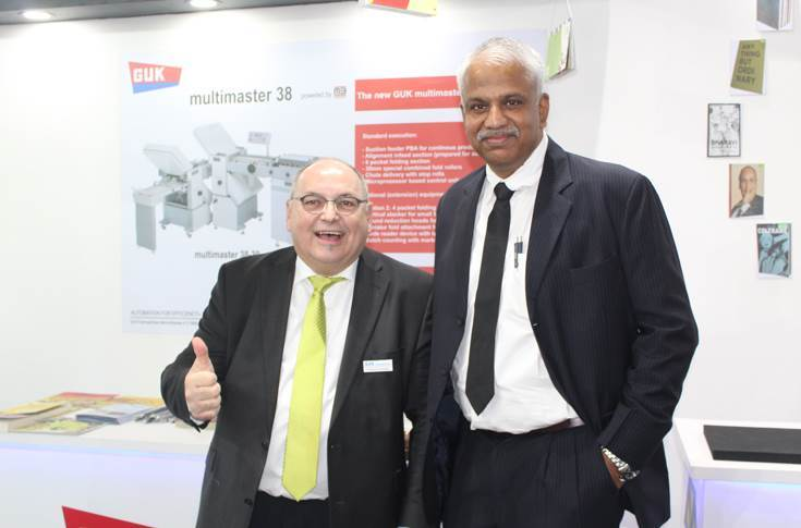 Friedrich Faulhaber of GUK with Sajith Pallippuram of Impel Welbound